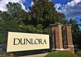 Front gate at Dunlora Charlottesville