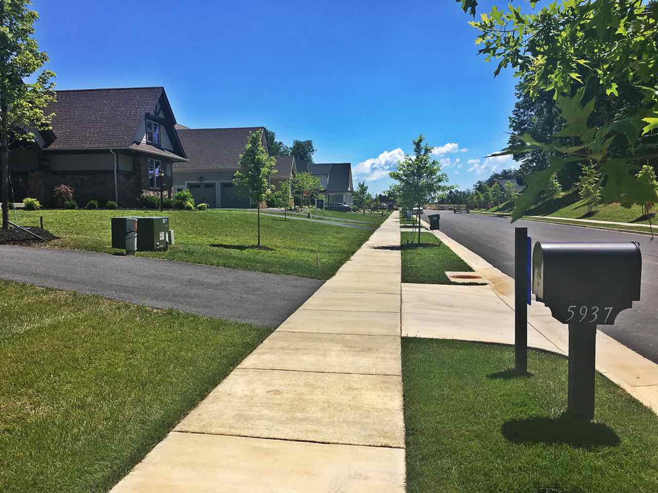 Sidewalk in Westlake Crozet VA