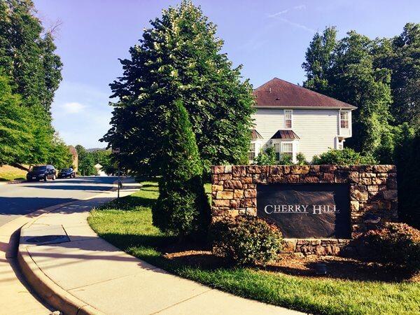 Entrance Cherry Hil Subdivision Charlottesvillel