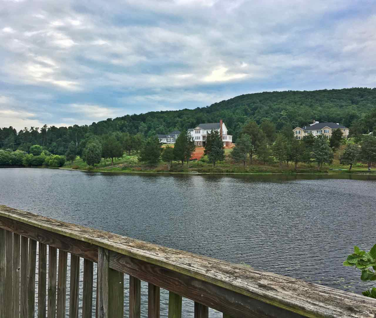 Community lake in Mountain valley farm subdivision