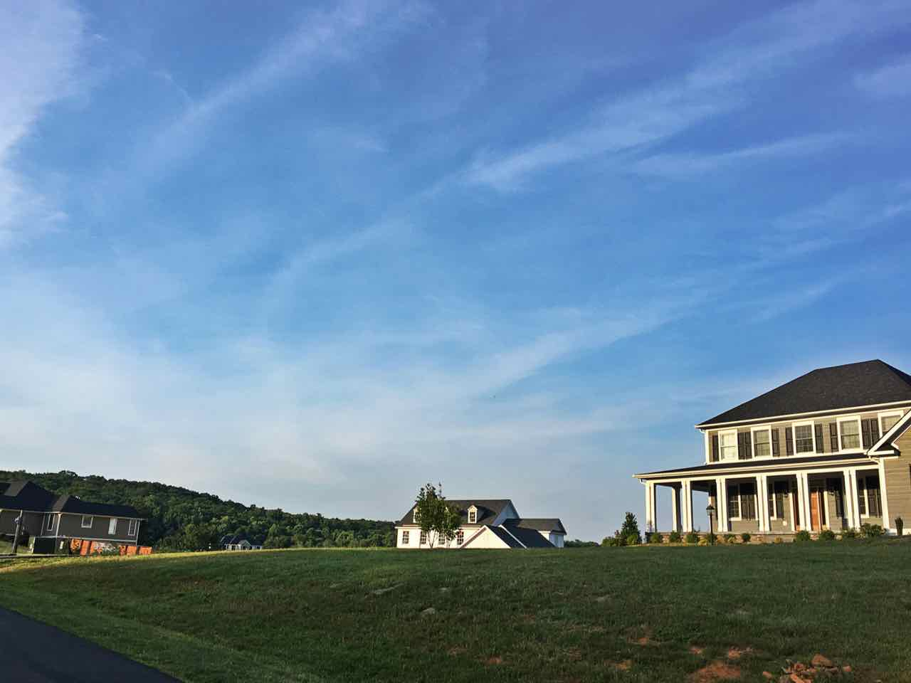 Luxury Extate overlooking mountain view in Charlottesville VA