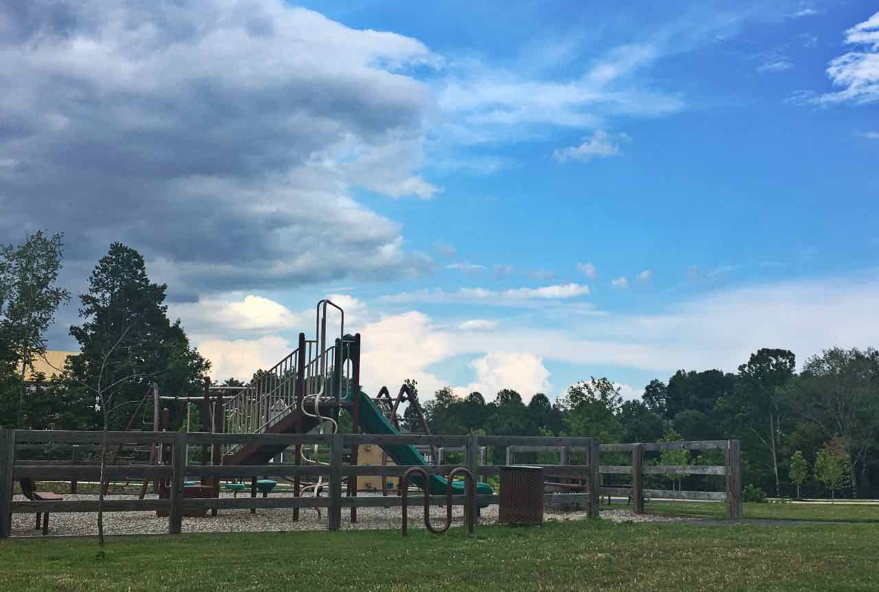 Playground in Crozet's Westhall subdivision.