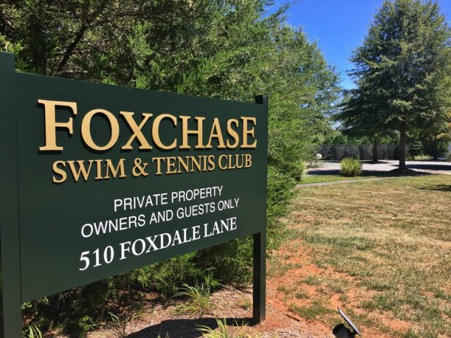 Foxchase Swim and Tennis Signage