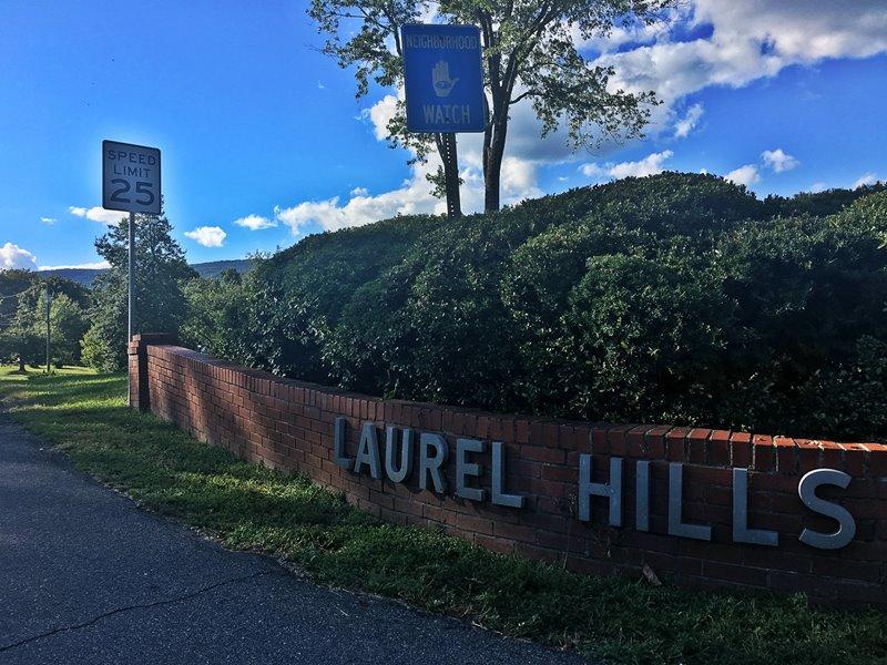 Laurel Hills Neighborhood signage