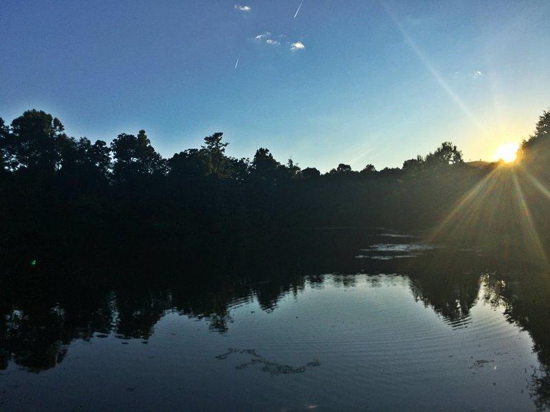 Sunset on the Lake in Grayrock