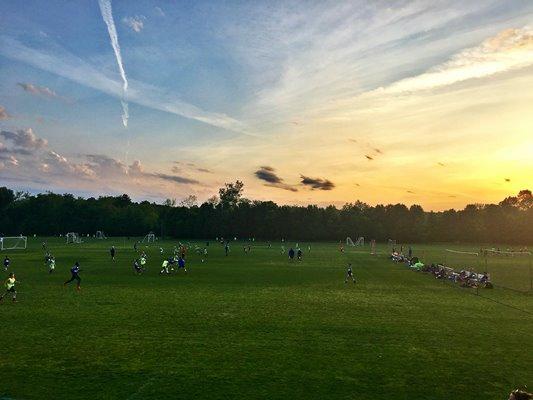 Soccer Park and Sunset at Bentivar Neighborhood
